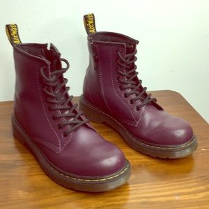 Dr. Martens Delaney Purple Youth Boot Size 3